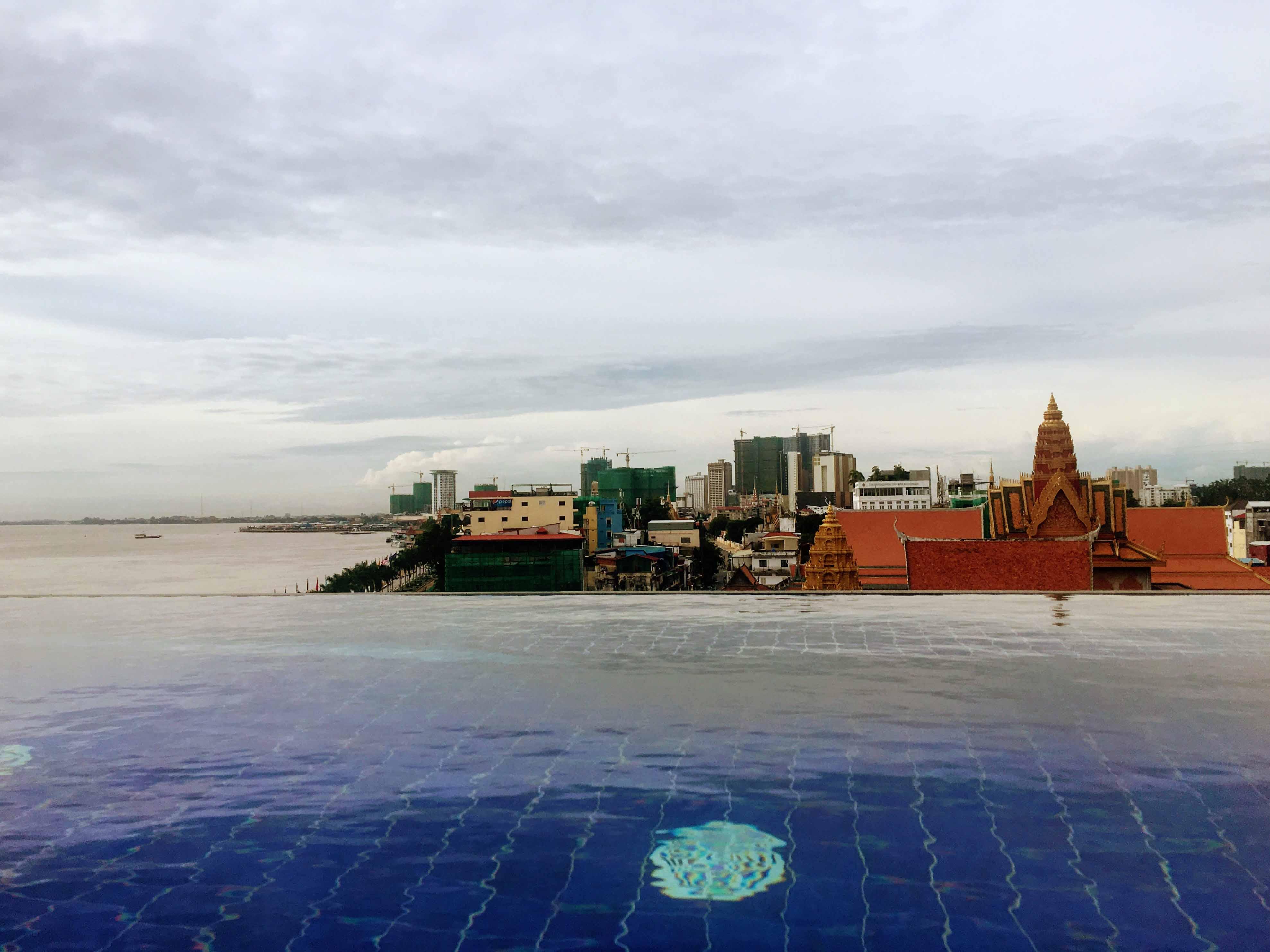 ohana hotel, phnom penh, cambodja, alojamento, swimming pool, piscina