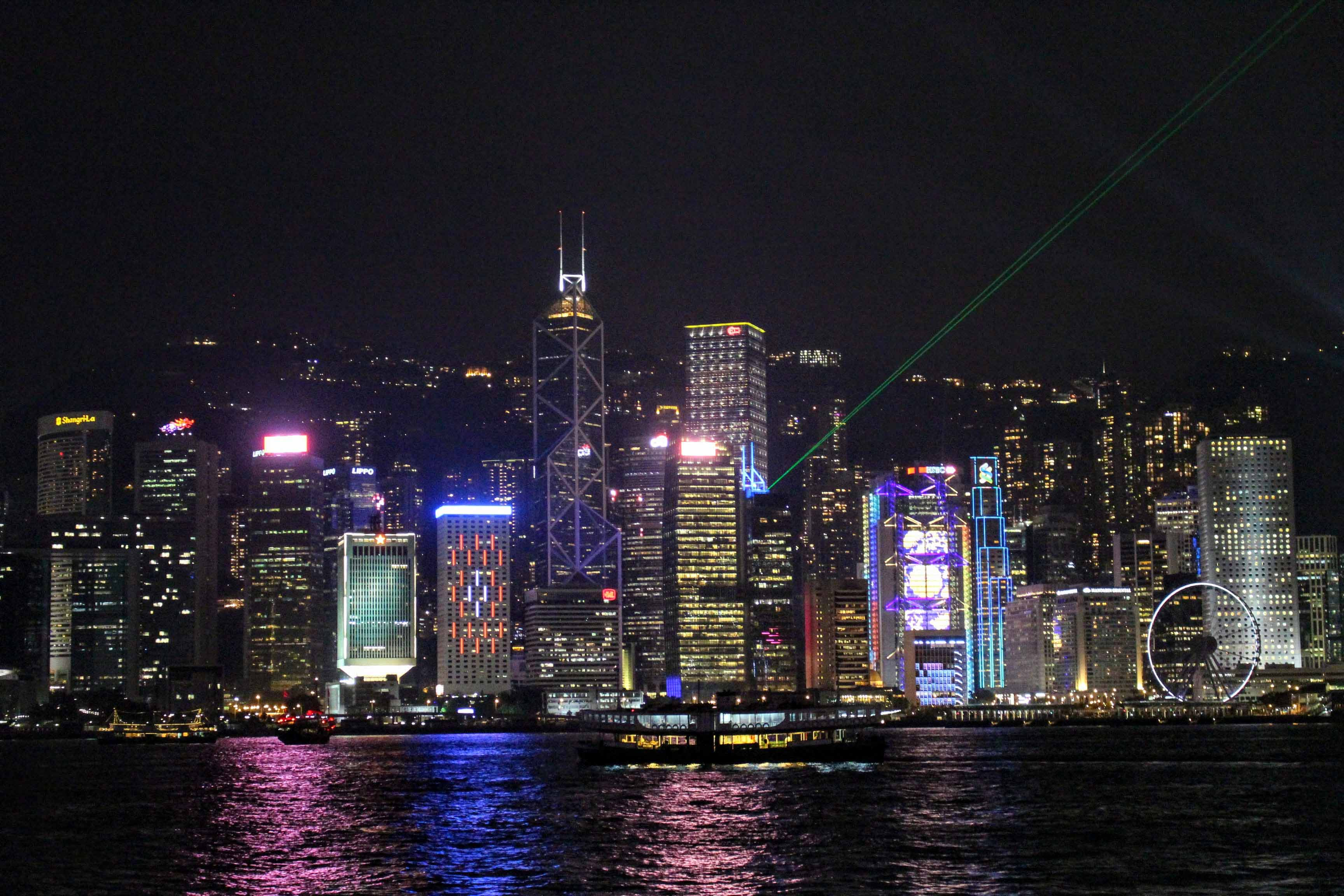 the symphony of the lights, espetáculo de luz e som em hong kong