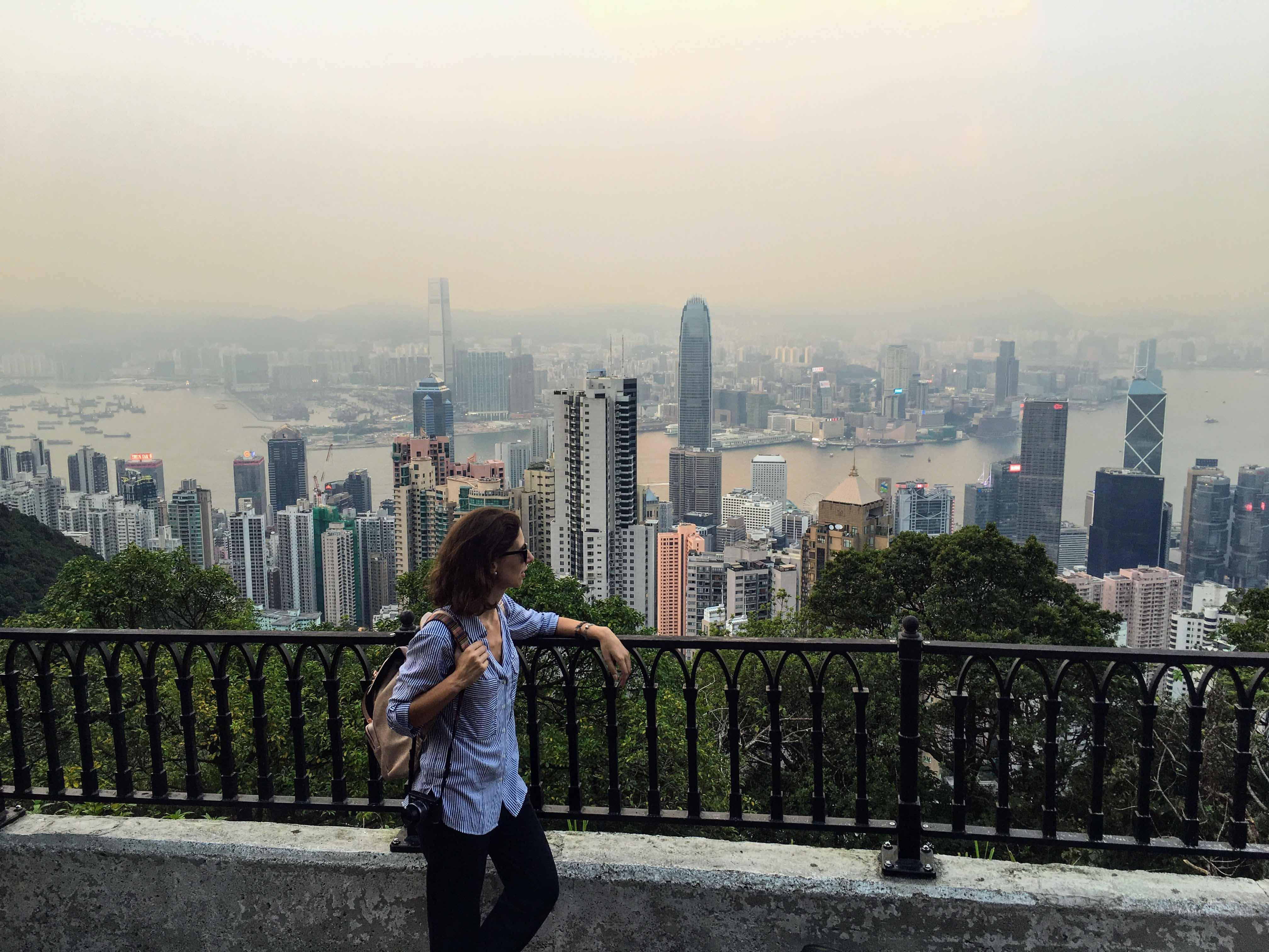 Vista de hong kong a partir de victoria peak